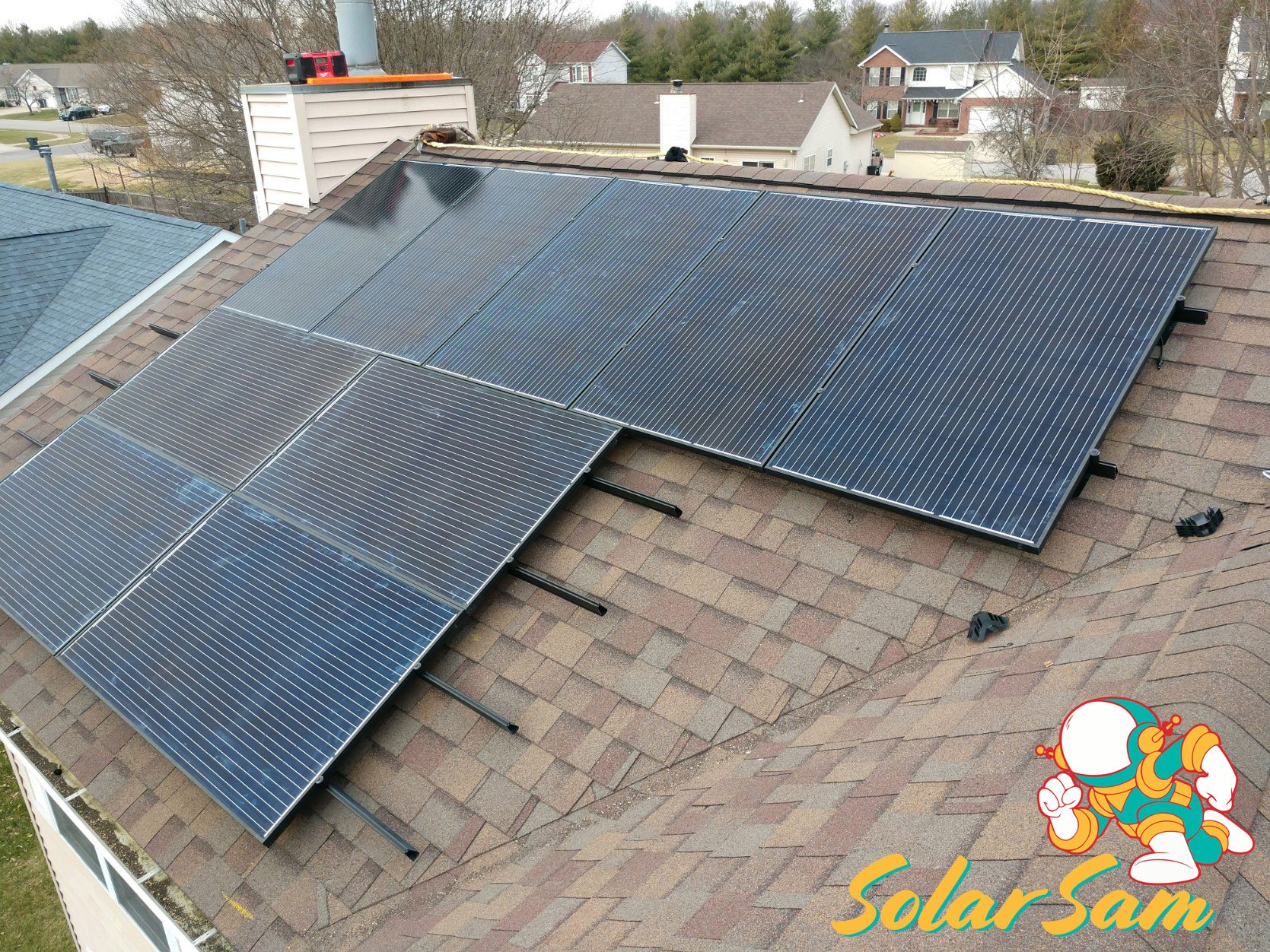 Home Roof Solar Panel Installation Belleville Illinois Roof Mounted Solar Sam Silfab Panels Solar Edge Inverter ATT Cellular Monitoring Green Electricity