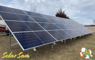 Boone Lee 5 Centralia MO Solar Panels Residential Home Installation by Solar Sam Professional Solar Panel Installers Monocrystalline Enphase Microinverters Sunmodo Ground Mount