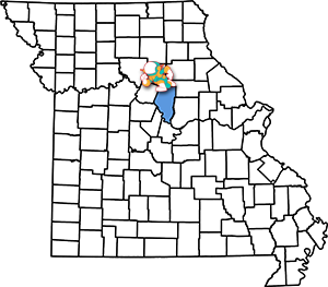 Missouri Map Boone County Solar Sam Service Areas for Residential Home Business Commercial and Farm Agricultural Solar Panel Installation