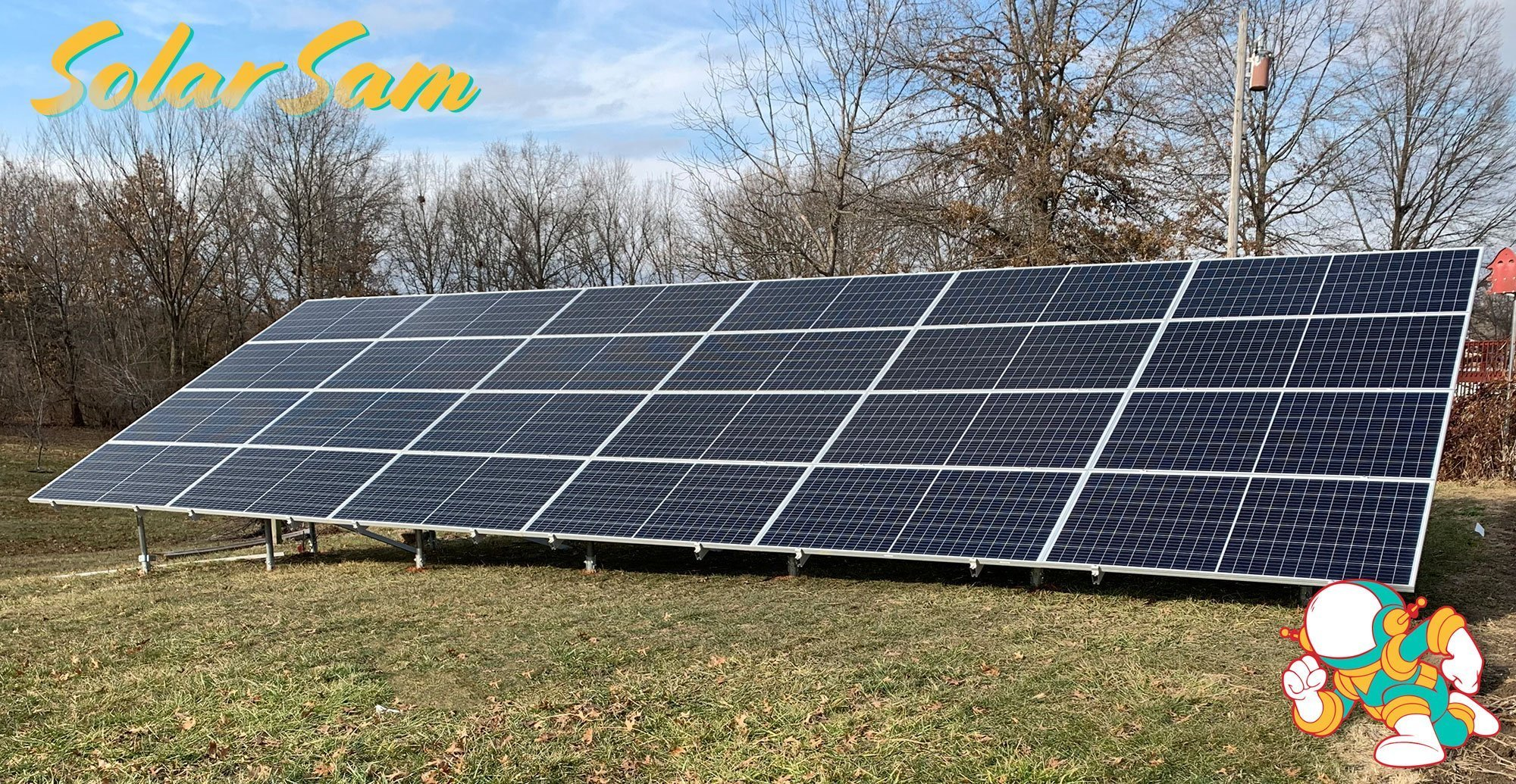 Reams 1 Solar Panels Installed in Centralia Missouri by Professional Solar Installers Solar Sam using Monocrystalline Solar Panels SMA Electricity Energy Inverter Sunmodo Earth Ground Mount