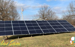 Solar Panels in Centralia, Missouri Installed by Solar Sam Professional Solar Installers using Monocrystalline panels. SMA Inverter. Sunmodo Ground Mount.