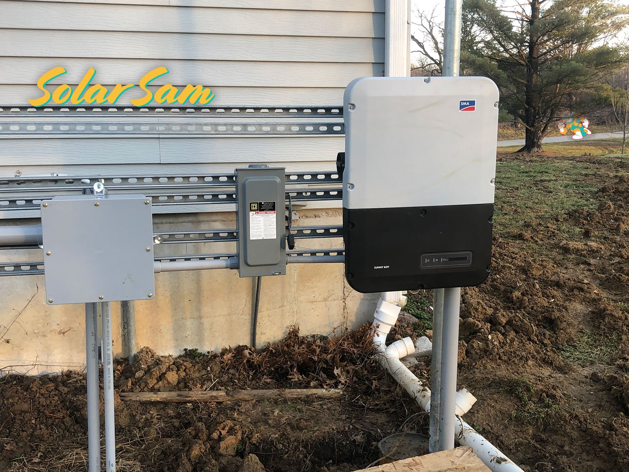 Solar Panel Installation in Centralia, MO using SMA Solar Inverters for an Electrical Grid-Connection. Providing Green Electricity by Solar Sam to a Residential House in Missouri