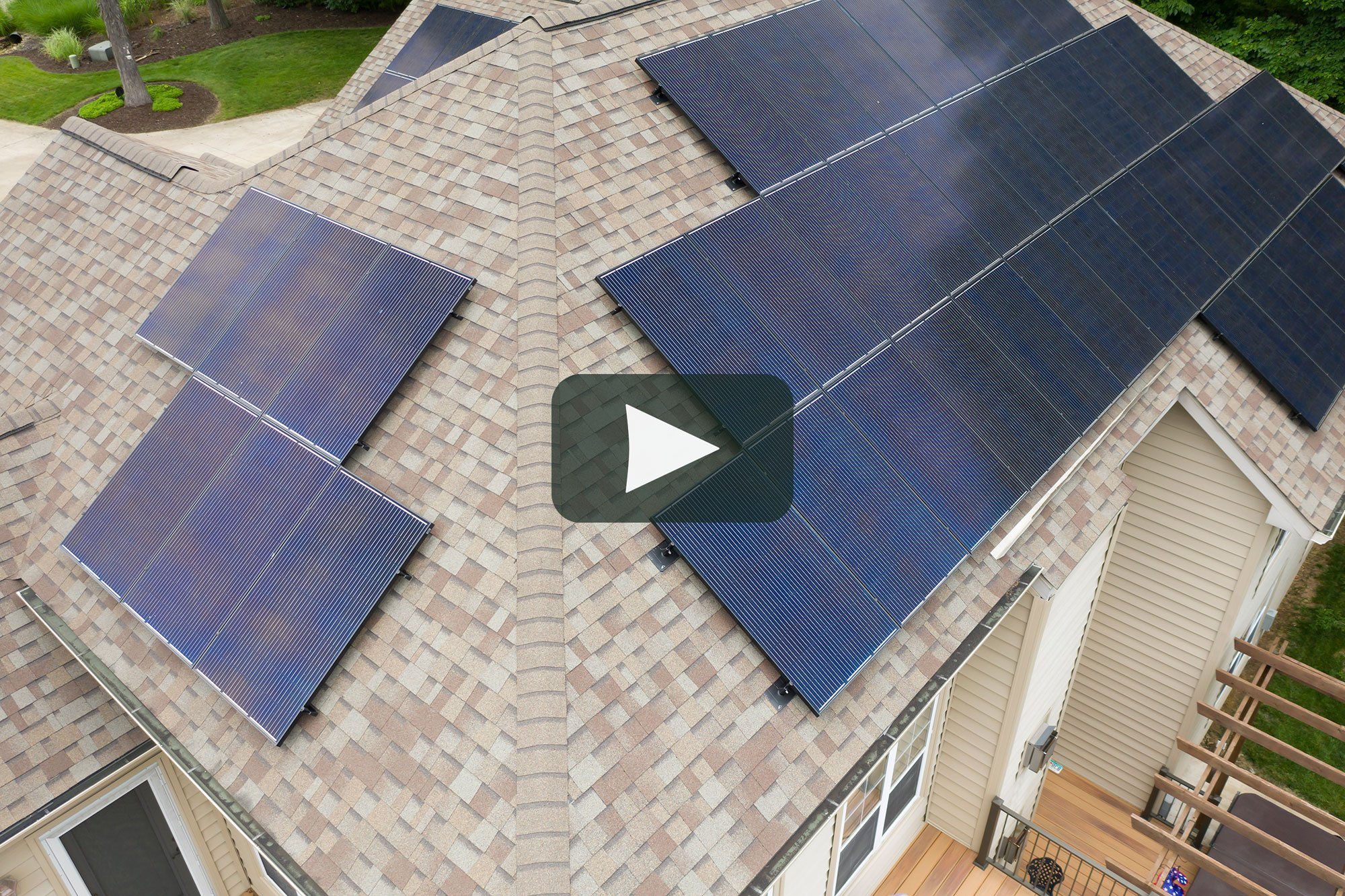 Solar Sam Professional Solar Panel Installation in Missouri Illinois Residential Home Commercial Business Office Agricultural Farm Green Energy Panels Video Drone Flyover Roof