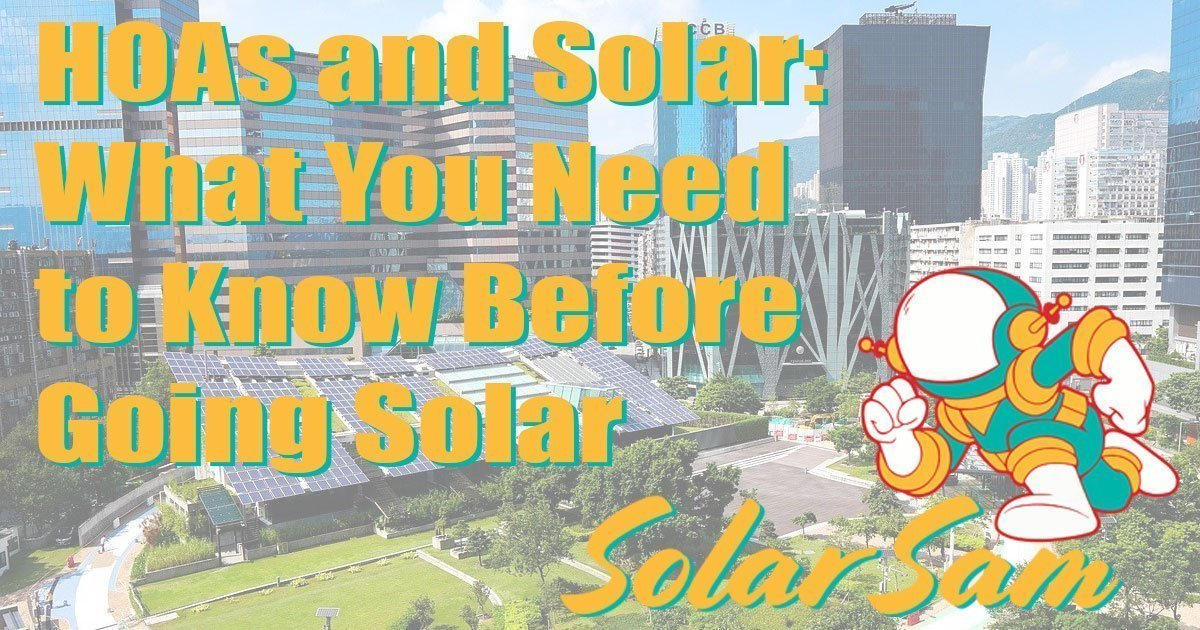Urban Solar in the City Getting Solar Panels in an HOA Can Be Tricky Solar Sam Can Help Home Owners Association Solar Sam Missouri Illinois