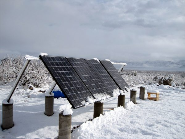 Let It Snow Snow Helps Clean Solar Panels So Don't Try To Clean It Off Solar Sam Provides Professional Solar Panel Cleaning in Missouri, Kansas, Illinois, and Beyond